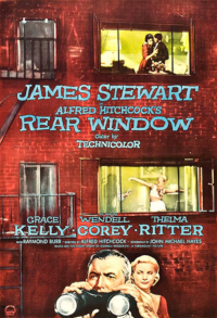 Filmplakat/Bild zu REAR WINDOW, Regie: Alfred Hitchcock